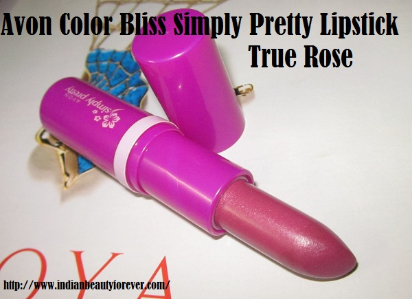 Avon Simply pretty lipstick true rose review, swatches