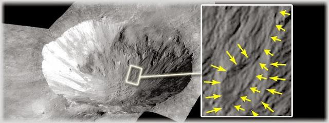 água líquida no asteroide Vesta
