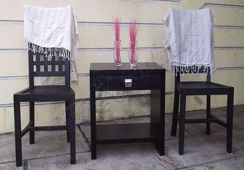 kursi tamu teras minimalis modern bahan dari kayu jati