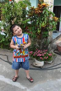 My nephew in Mộ Đức district