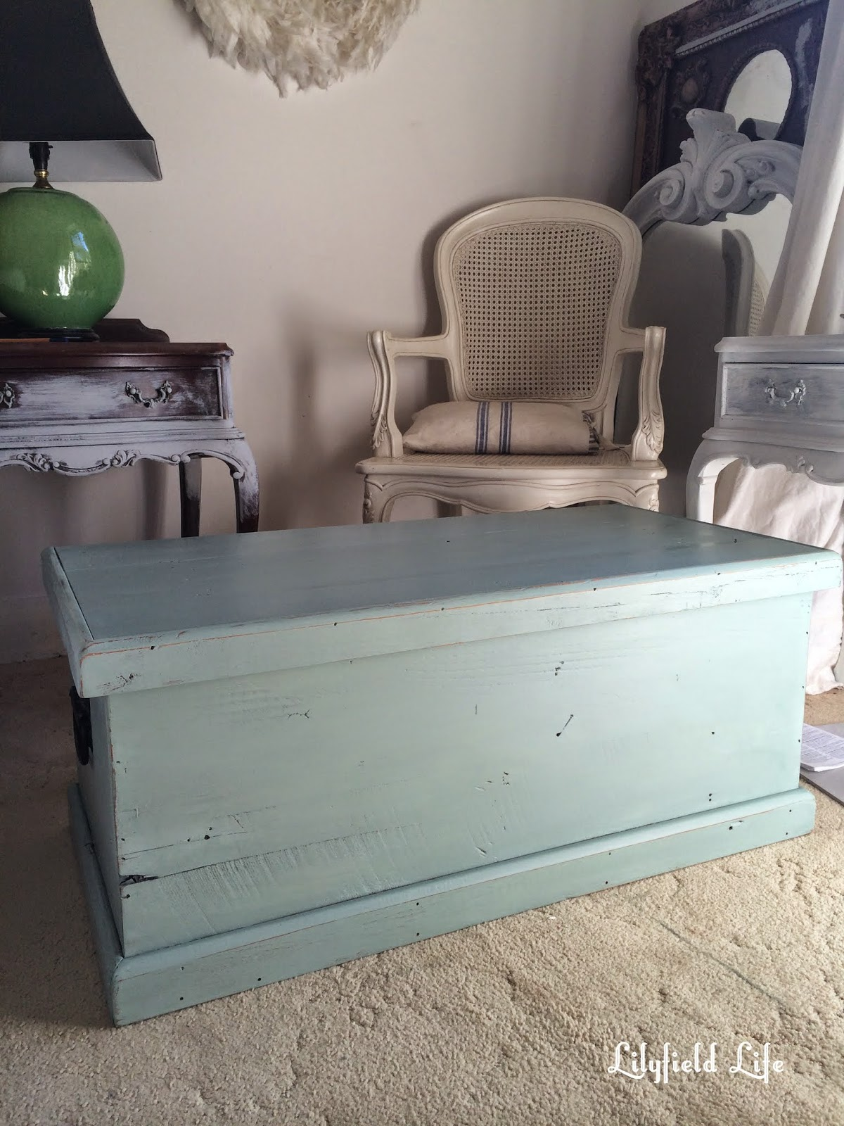 Lovely This is such a lovely old piece quite rough hewn with lots of character You can see the saw marks on the side I lightly distressed the paint and then