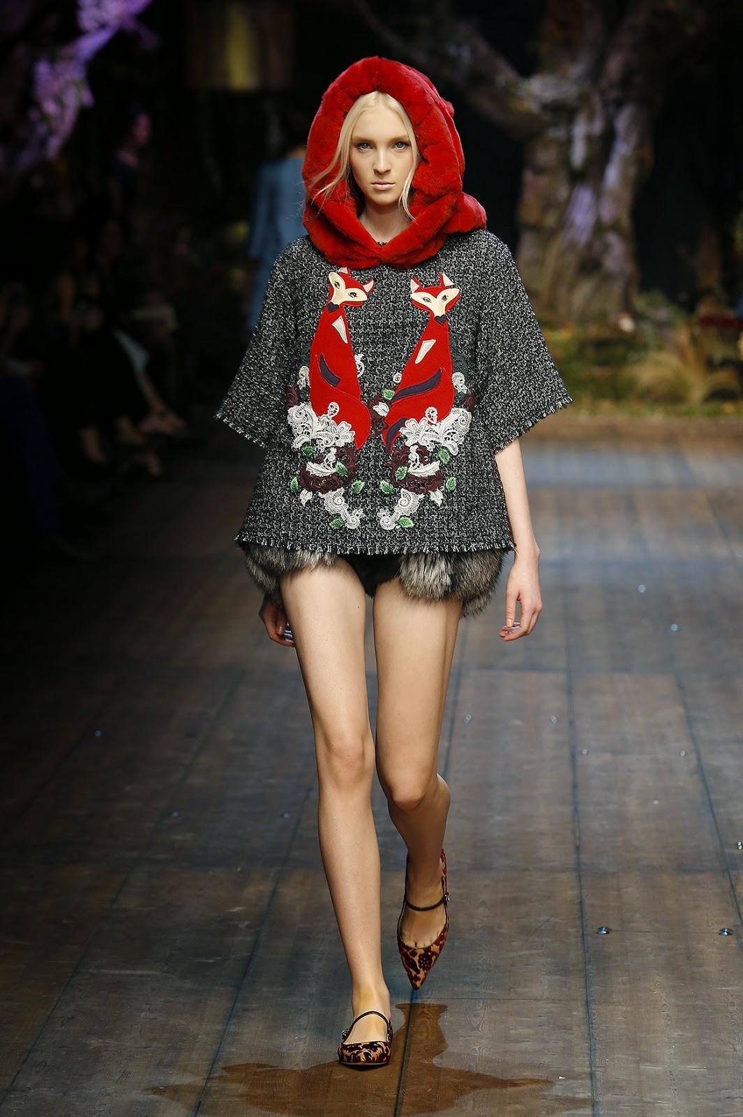 http://www.dolcegabbana.com/woman/Dolce&Gabbana colecção outono inverno 2014-2015 raposas