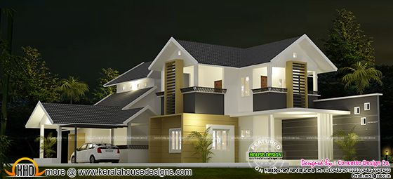 Proposed house at Kondotty, Malappuram