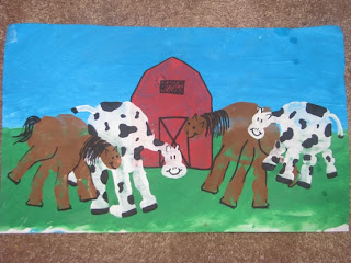 Handprint Horse and Cow Craft