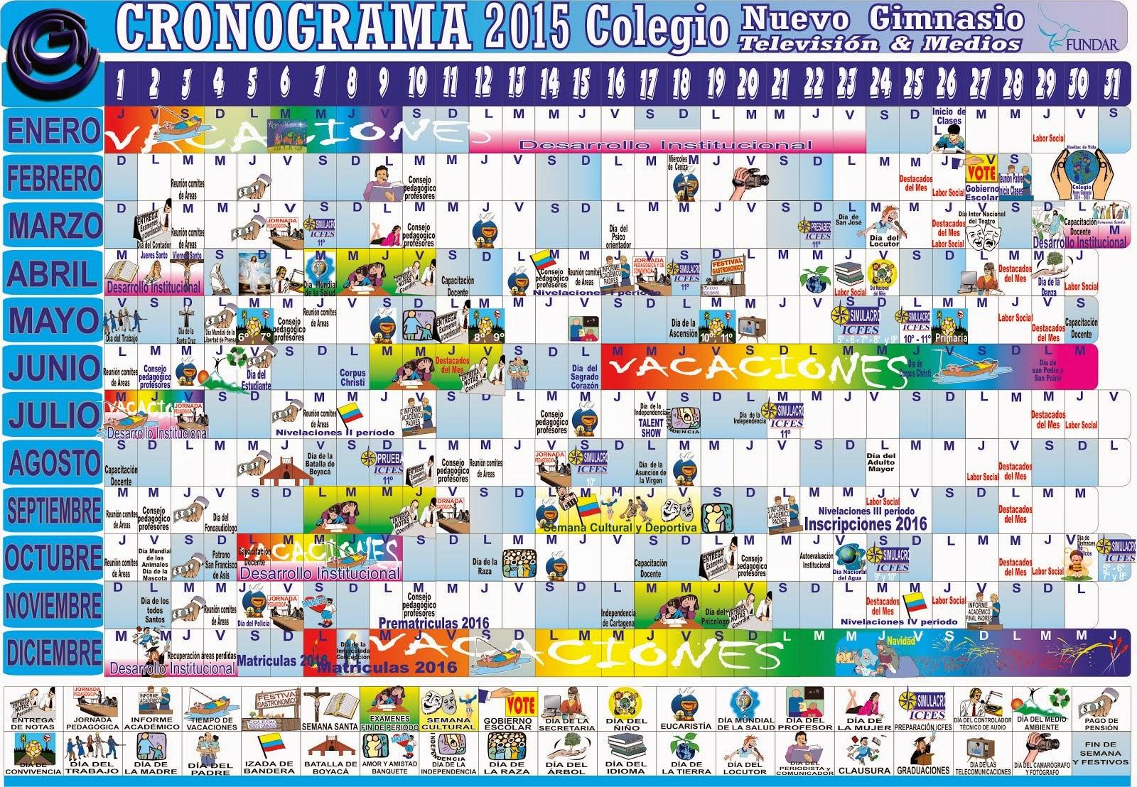 CRONOGRAMA 2015
