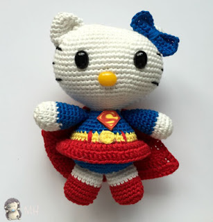 Amigurumi Human Ear Pattern : Amigurumi Hello Kitty: Superwoman Free Amigurumi ...