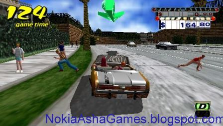 Crazy Taxi Java game download for Nokia Asha 305 306 308 309 310 311