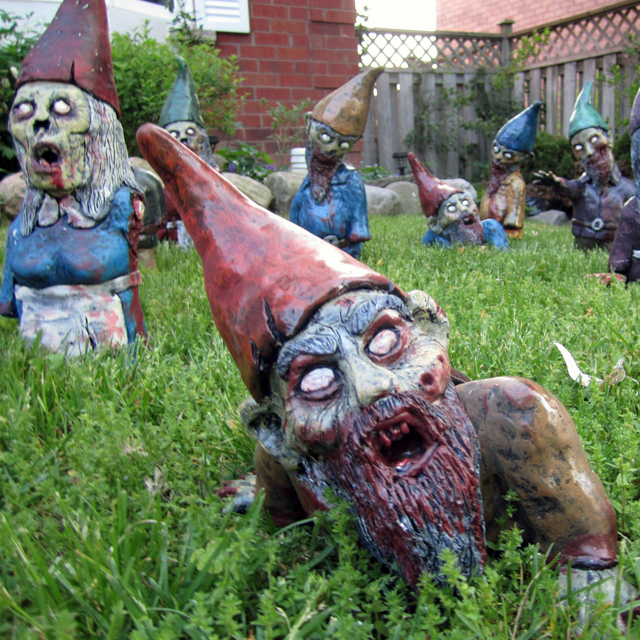 Druther rpotd zombie garden gnomes for Garden gnome tattoo designs