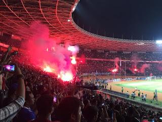 Suasana Bobotoh di SUGBK, Jakarta