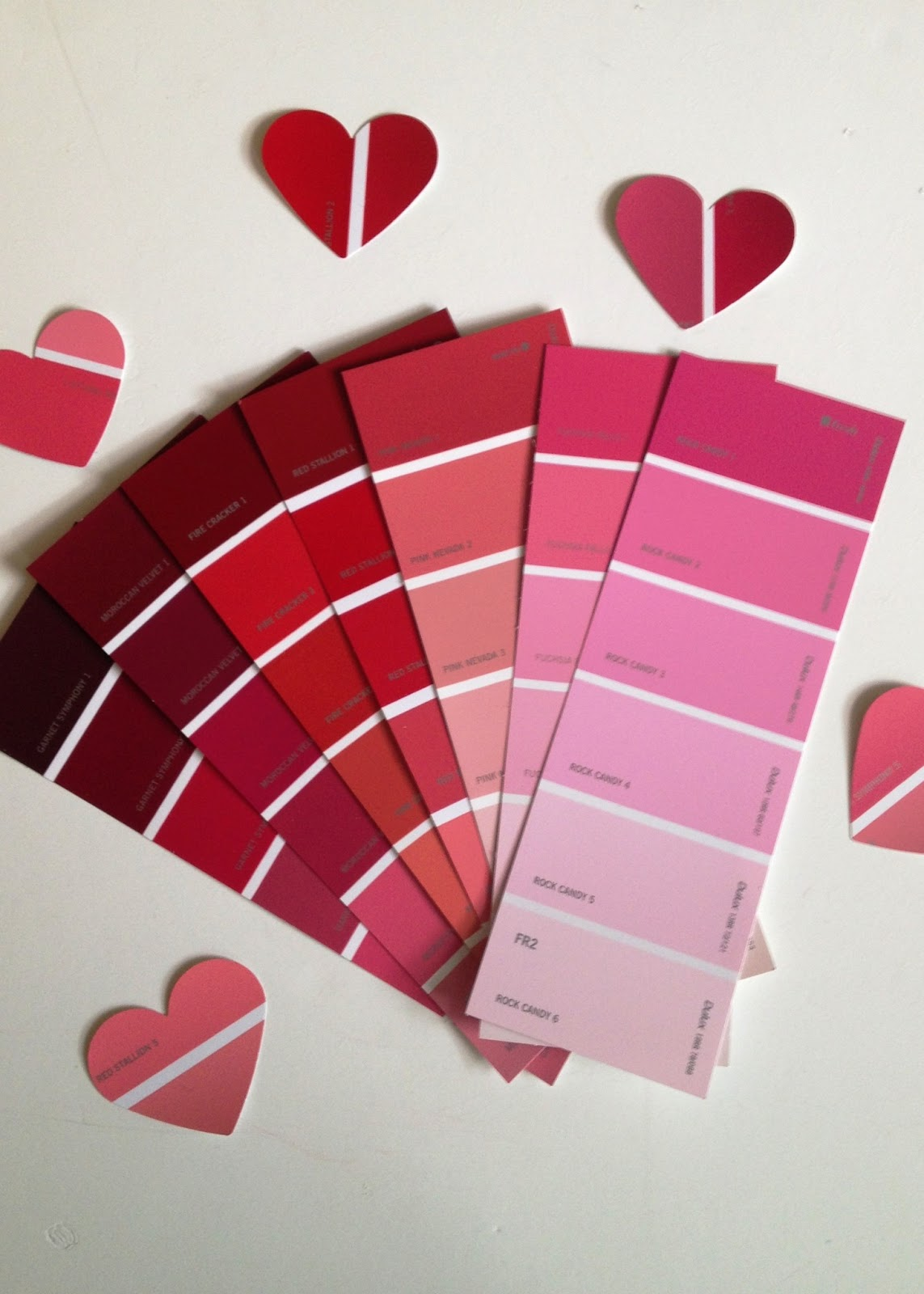 buttons and paint         and paint swatch valentine u0026 39 s cards