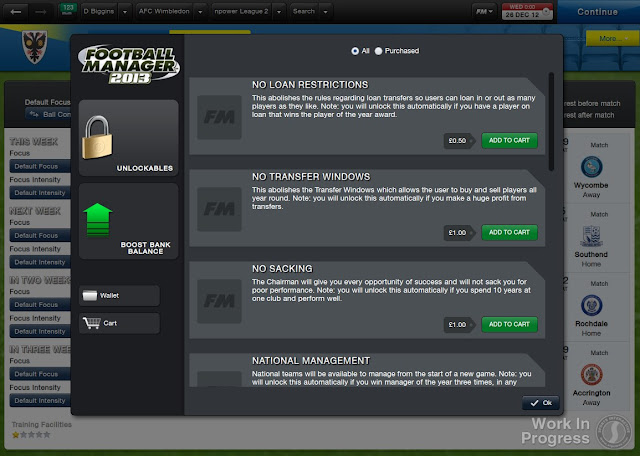 Unlockable features (cheats) in Football Manager 2013