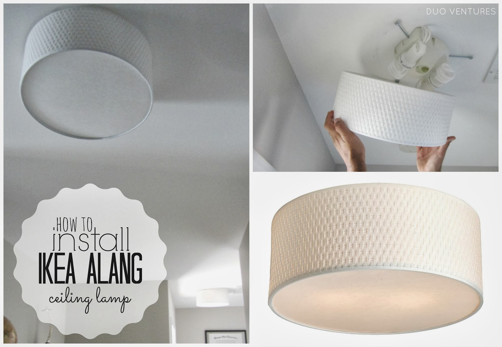 Duo ventures how to install ikea alang ceiling lamp how to install ikea alang ceiling lamp mozeypictures Gallery