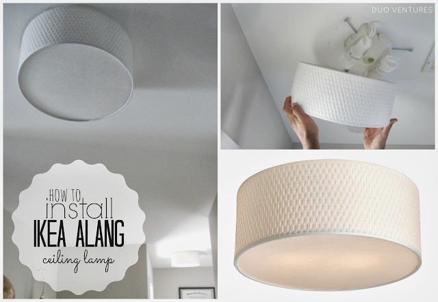 duo ventures how to install ikea alang ceiling lamp. Black Bedroom Furniture Sets. Home Design Ideas