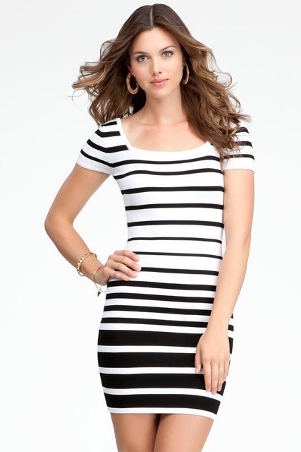 Sleeve Multi Stripe Dress
