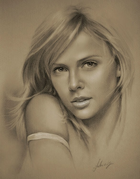 20-Charlize-Theron-krzysztof20d-2b-and-8b-Pencils-Clear-Pastel-Celebrity-Drawings-www-designstack-co