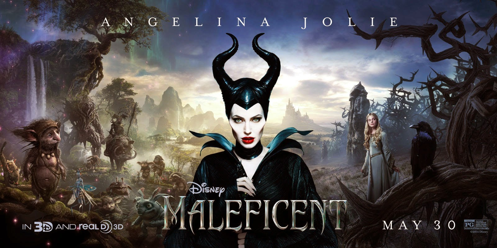 Picture of Logo Maleficent Film title screen shot