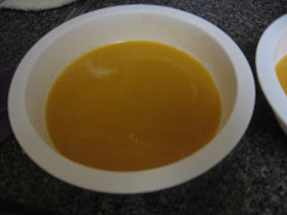Butternut soup with cider syrup