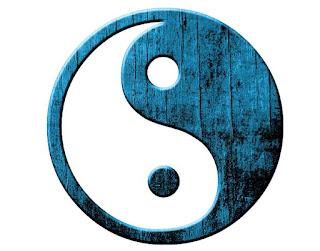 Yin Yang Azul y Blanco para tu perfil