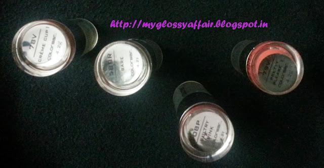 Colorbar Lipsticks- Bare, Pretty Please, Cream Cup, Sultry Pink