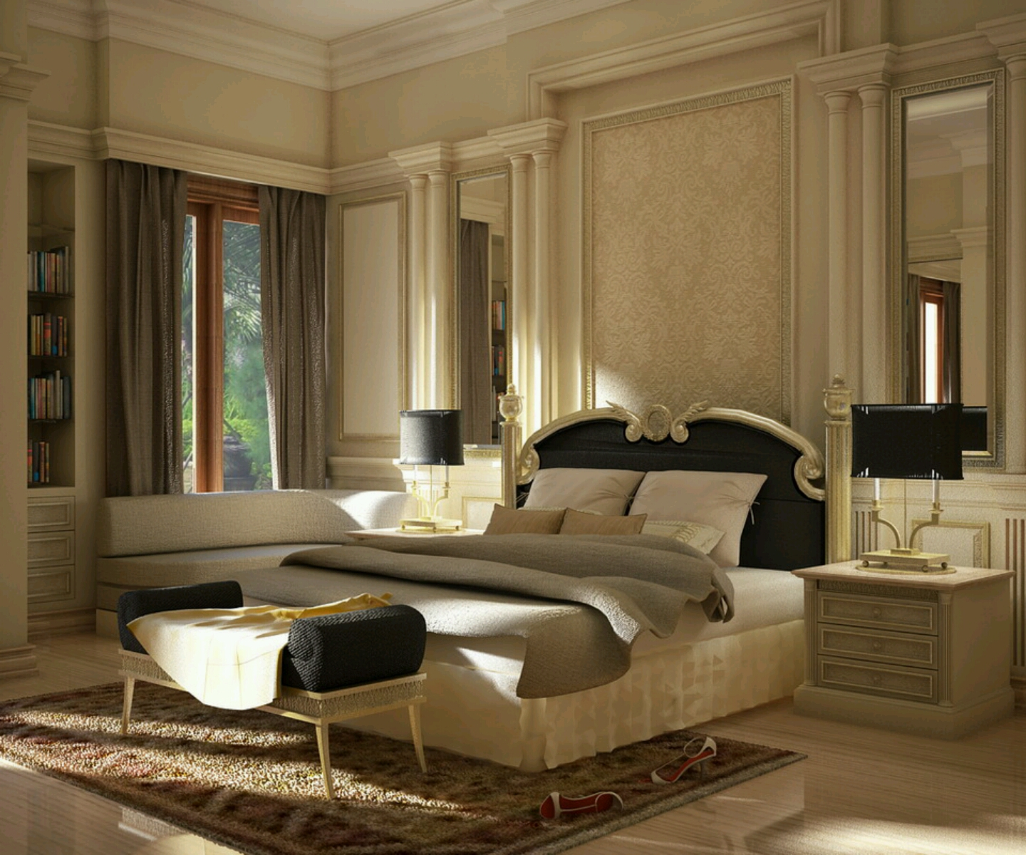 Modern luxury bedroom furniture designs ideas vintage for Master bed design images