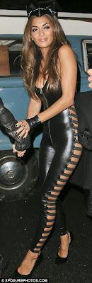 Nicole Scherzinger Black PVC Catsuit
