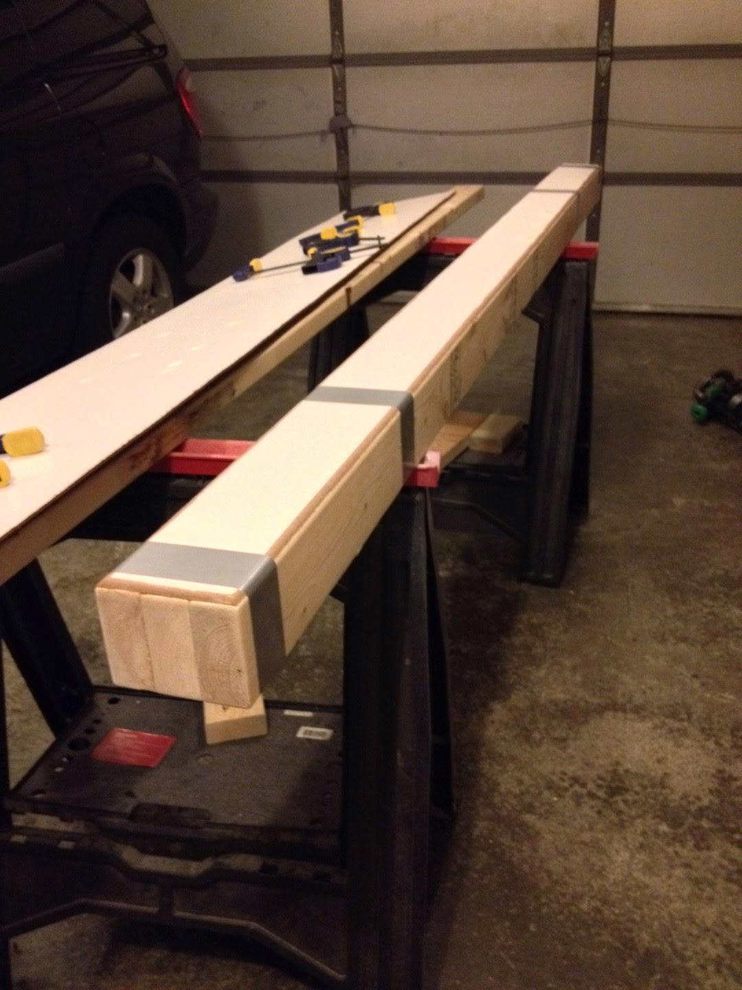 diy homemade balance beam wood 2x