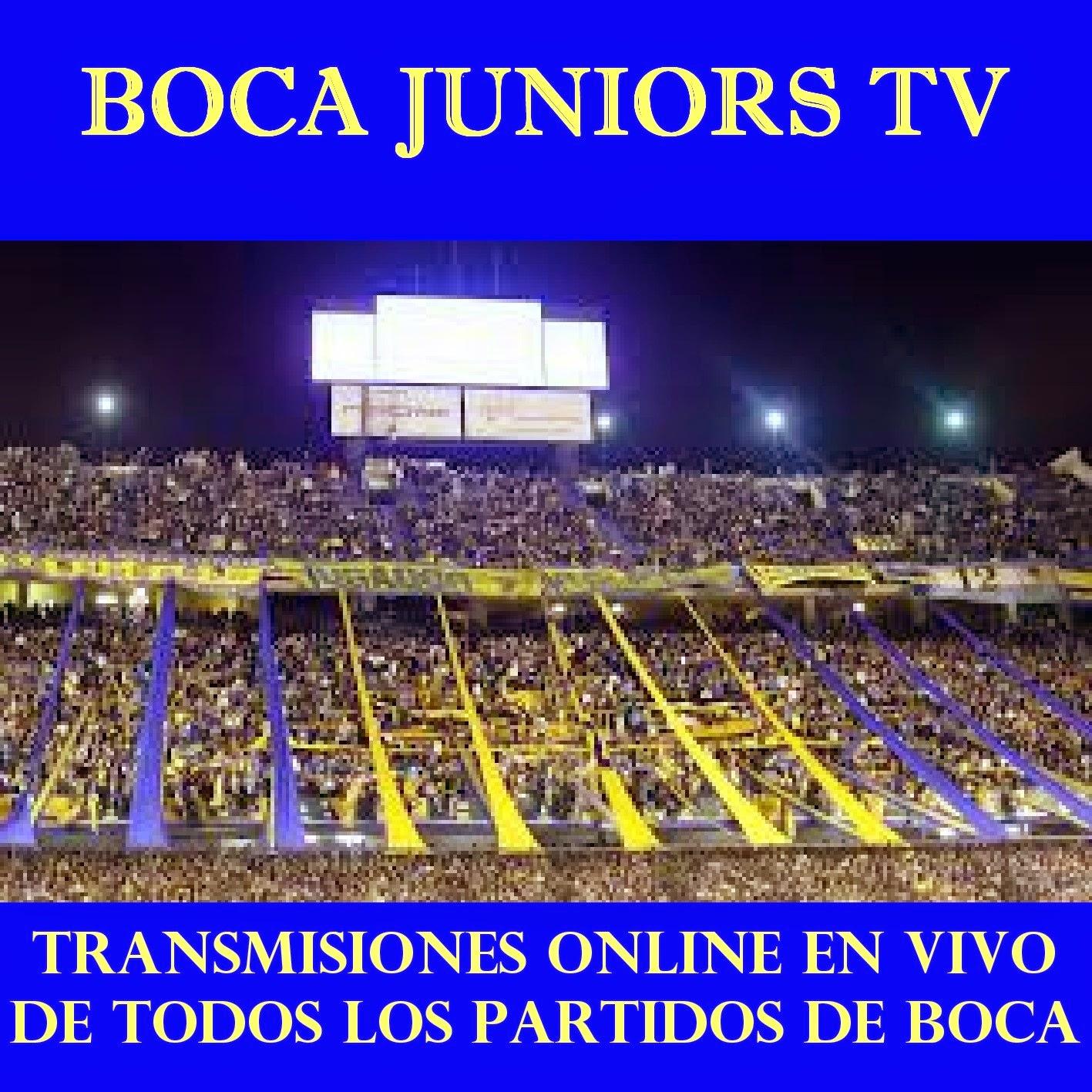 BOCA JUNIORS TV.  PARA ENTRAR A LA PAGINA SE LES PIDE PRESIONAR SOBRE LA IMAGEN