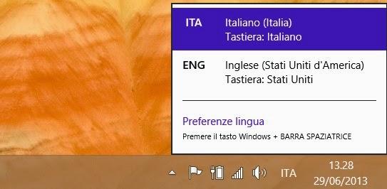 cambio lingua windows 8.1