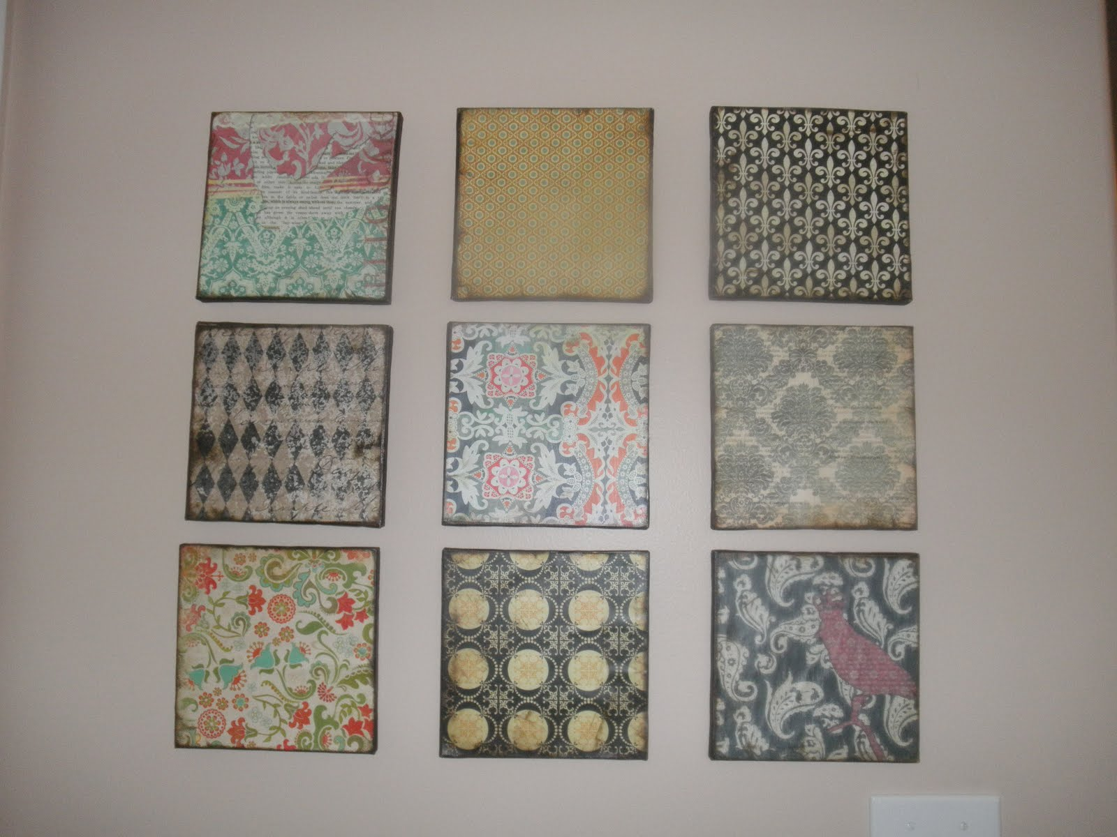 Scrapbook paper store - Scrapbook Paper And Dollar Store Canvas Wall Art