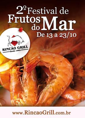 Rincão Grill: 2º Festival de Frutos do Mar