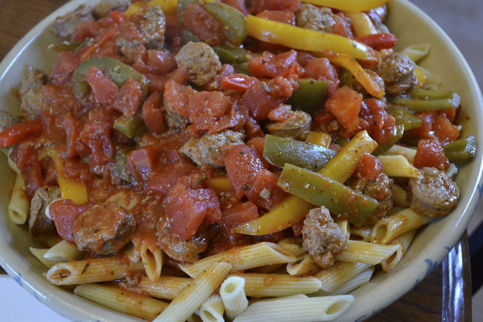 "Point-less"" Meals: Italian Sausage and Peppers Pasta"