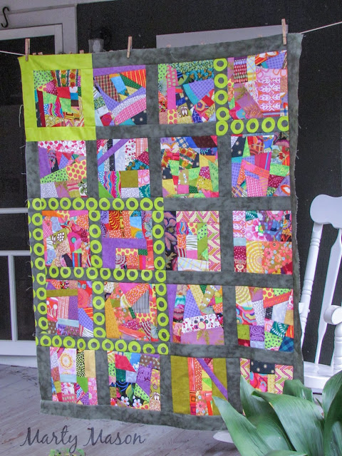 """There's Always A Plan""""  quilt top by Marty Mason"""