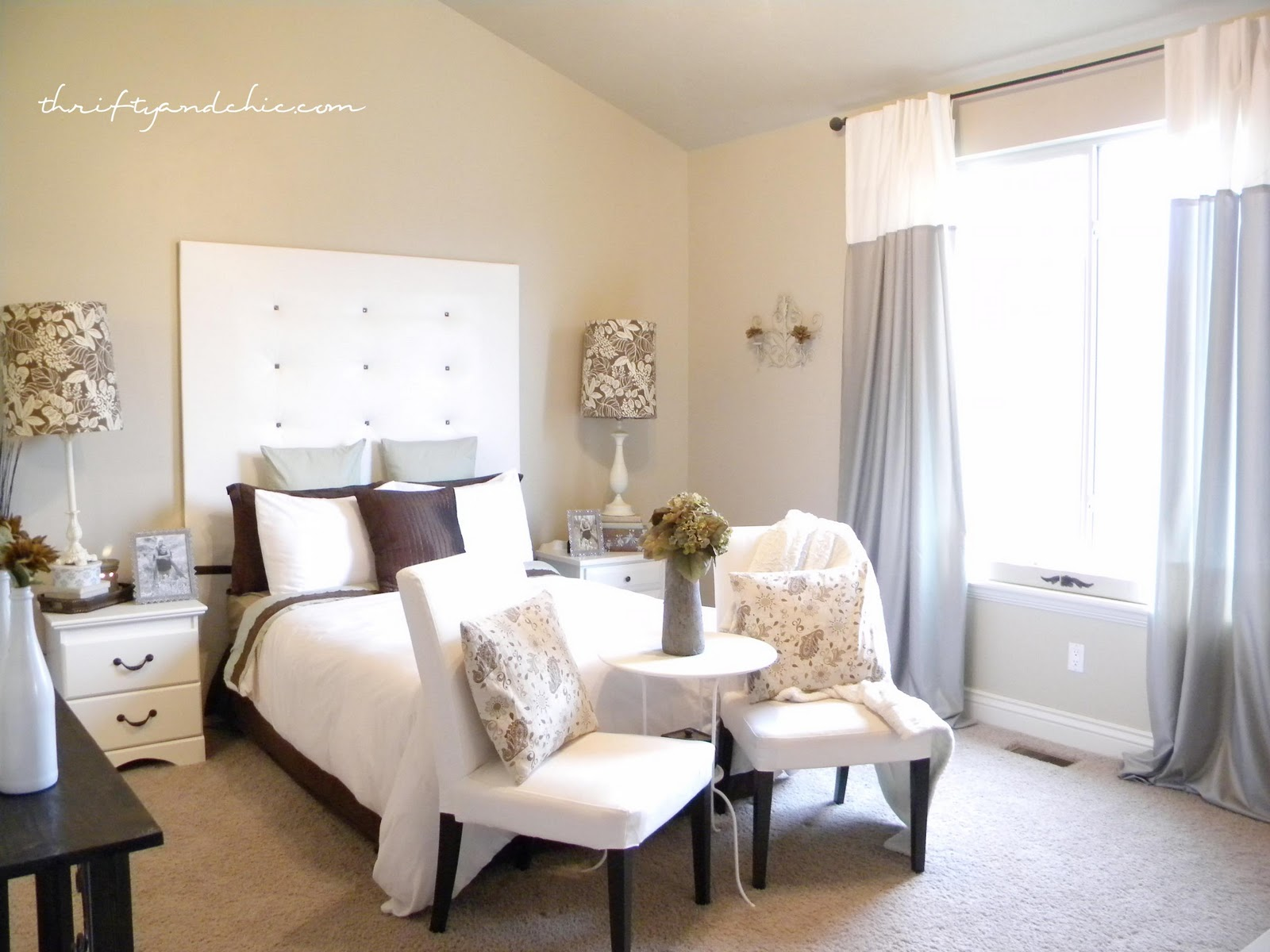 Thrifty and chic diy projects and home decor Modern chic master bedroom