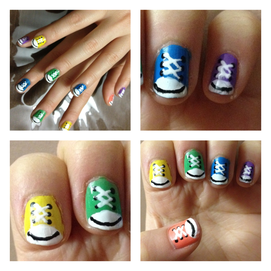 Nail Art Couture Converse Nail Art