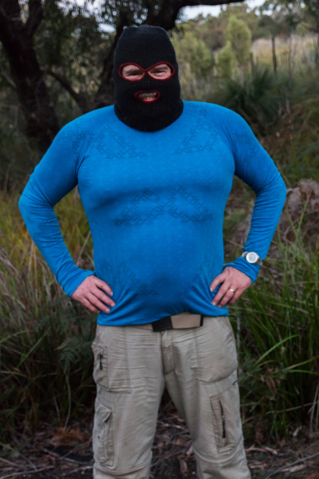 man wearing balaclava