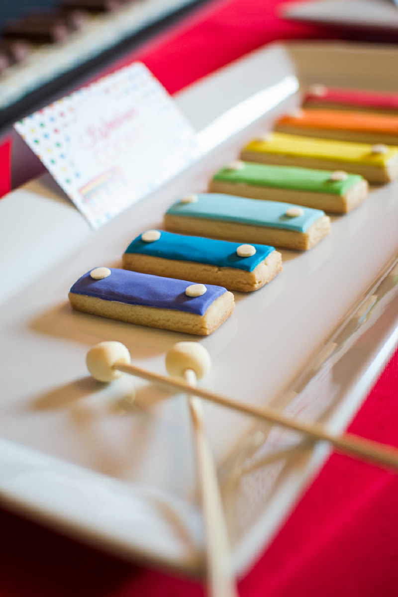A Music Inspired 1st Birthday Party Xylophone Cookies