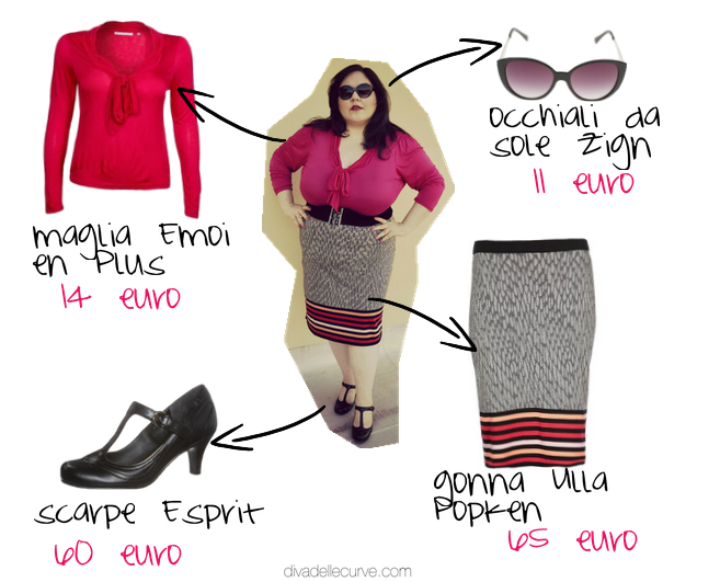 outfit plus size in collaborazione con zalando