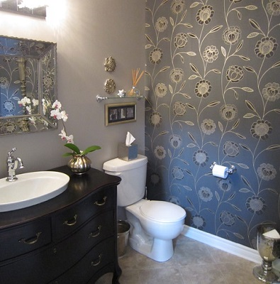 wallpaper bathroom ideas for small bathroom