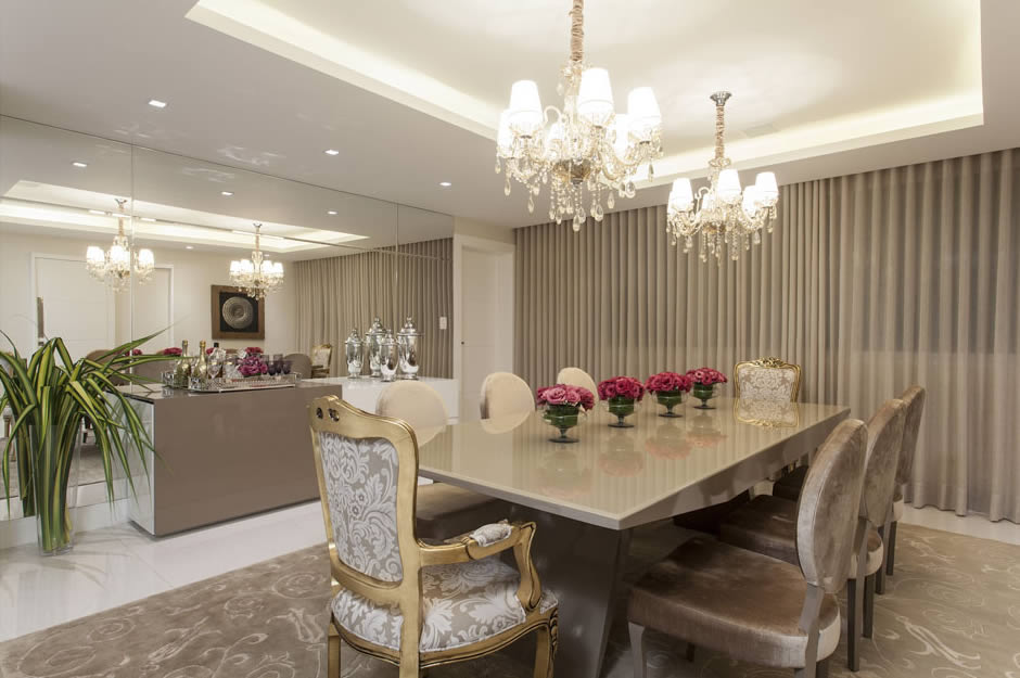 Sala De Jantar Laqueada Bege ~ Salas de estar, tv e jantar integradas  maravilhosas! Confira todos