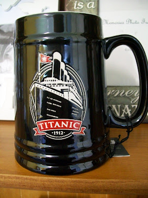 thats the way the cookie crumbles, titanic, 1912, tankard, ceramic, white star line, unsinkable, cobh, queenstown