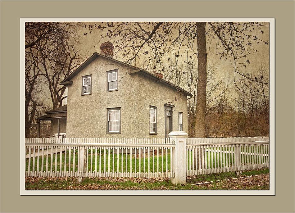 The Manse with the lovely picket fence in the foreground at Black Creek Pioneer Village.  Holly Cawfield Photography
