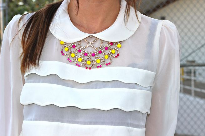 DIY Painted Rhinestone Necklace