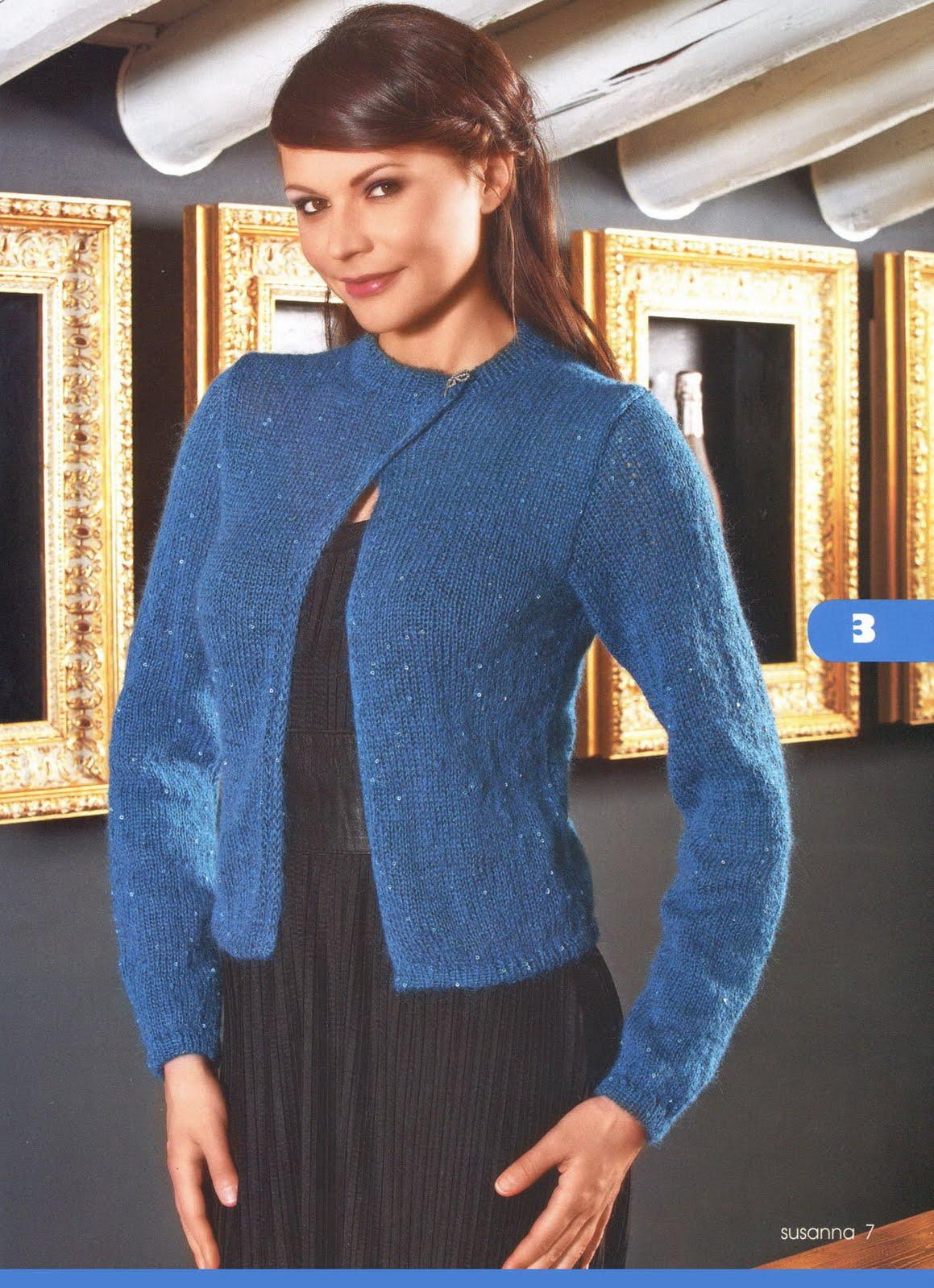 Модное вязание кофты из мохера