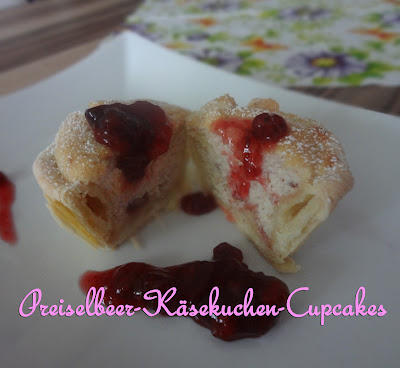 Preiselbeer-Käsekuchen-Cupcakes