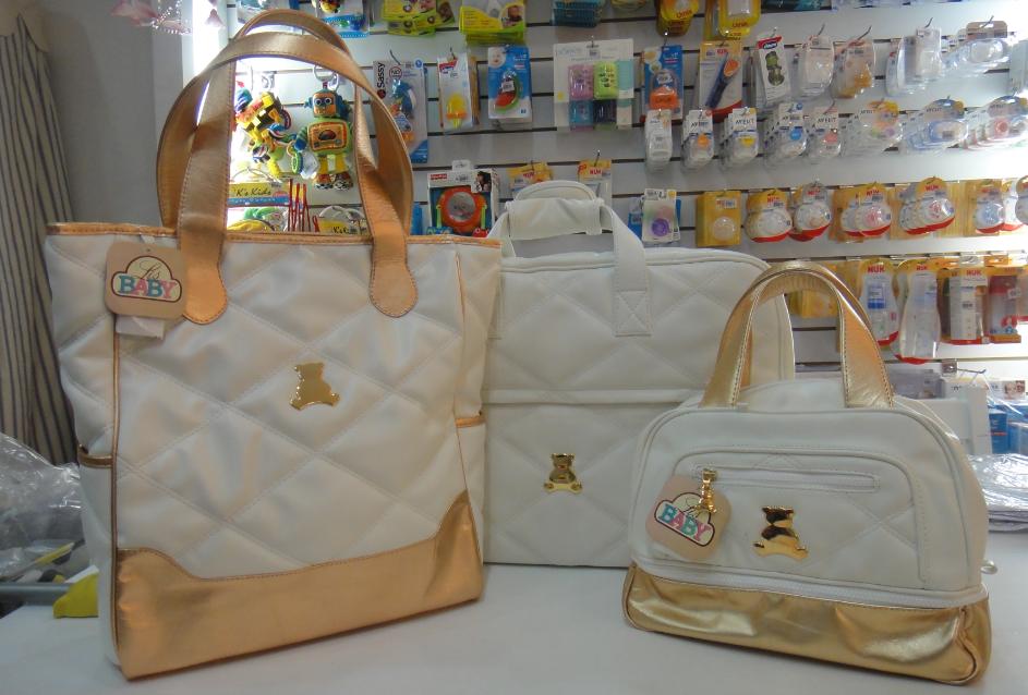 Bolsa Dourada De Maternidade : Lis baby conjunto de bolsas bl branca preta e bebe