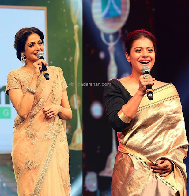 Actress Sreedevi and Kajol were honoured at the Asiavision Radio and TV Awards 2015