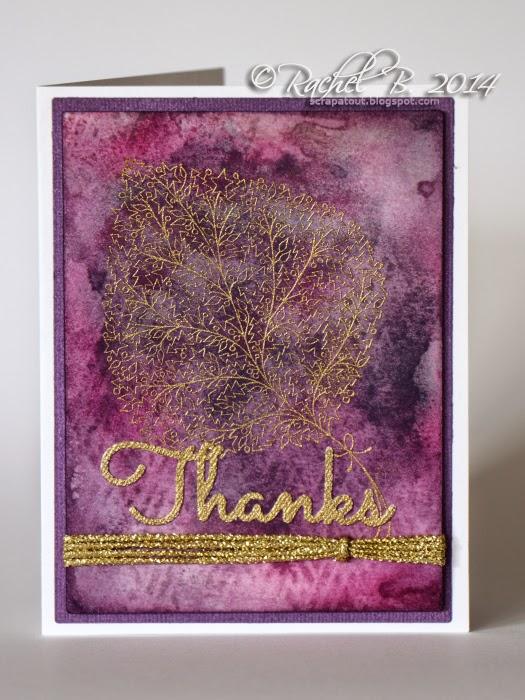 Impression Obsession Handmade card Thanks