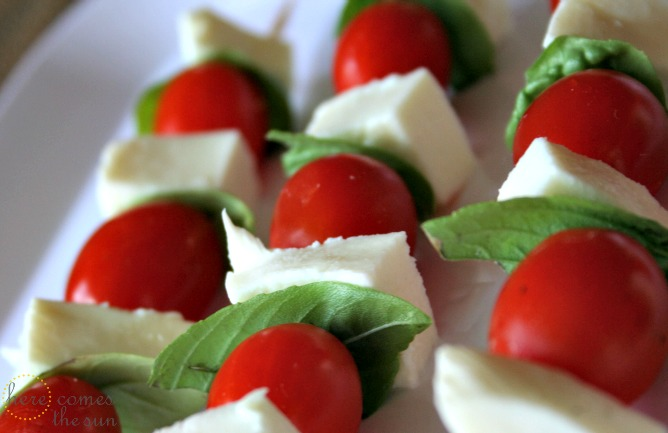 Caprese Salad Skewers | Here Comes The Sun