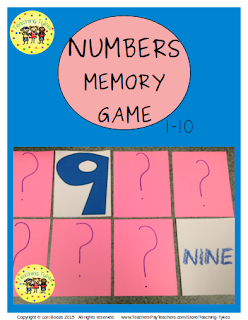 https://www.teacherspayteachers.com/Product/Numbers-1-10-Memory-Game-2178354