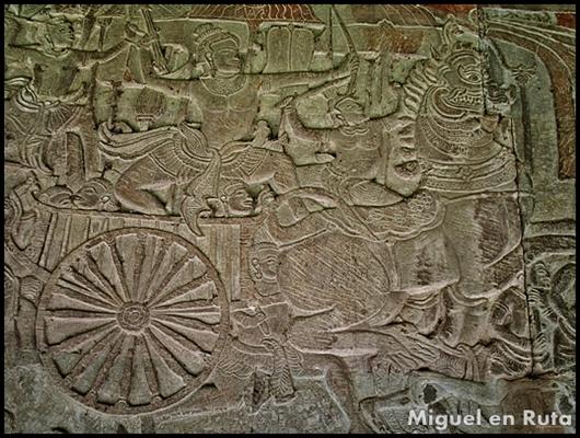 Ankor-Wat--Bajo-relieve-Camboya